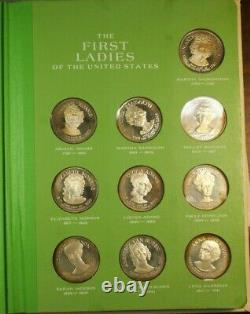 First Ladies of the United States Franklin Mint Silver Coin Set