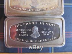 Five Solid Sterling Silver Bars The Franklin Mint 331.6 Grams