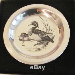 Four Franklin Mint Audubon Society James Fenwick Lansdowne Silver Bird Plates