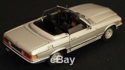Fran Klin Mint 1/24 die-cast metal Mercedes-Benz 450SL roadster / Silver met