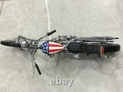 Franklin/Danbury mint 110 Harley Davidson Easy rider chopper captain America 12