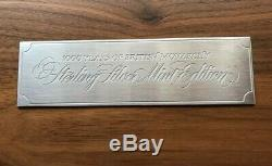 Franklin Mint 1000 years of British Monarchy sterling silver ingots in wood case
