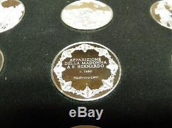 Franklin Mint, 100 x 31,1g / 925er Silber, Masterpieces, Tolle Sammlung