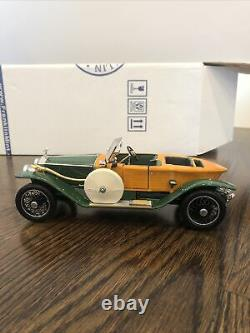 Franklin Mint 124 1914 Rolls-Royce Silver Ghost Solid Wood Coachwork