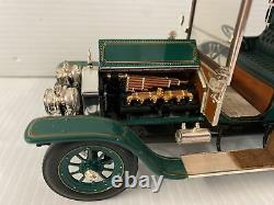 Franklin Mint 1907 Rolls Royce Silver Ghost Touring Sedan GREEN 124 (NO BOX)