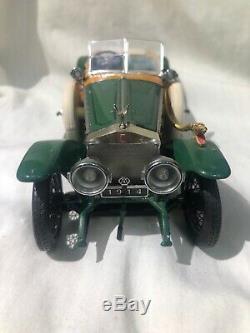 Franklin Mint 1914 Rolls Royce Silver Ghost 124 serpent head horn intact