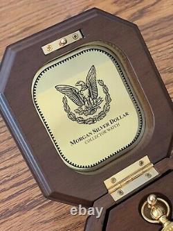Franklin Mint 1921 Morgan Silver Dollar Pocket Watch. MINT
