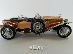 Franklin Mint 1921 Rolls Royce Silver Ghost Copper 124 B20UX56 Die Cast Replica