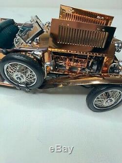 Franklin Mint 1921 Rolls Royce Silver Ghost Copper 124, B20UX56 PERFECT
