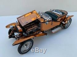Franklin Mint 1921 Rolls Royce Silver Ghost Copper 124 Scale Diecast New