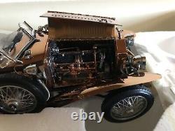 Franklin Mint 1921 Rolls Royce Silver Ghost w Solid Copper Body UX56 Beautiful