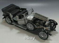 Franklin Mint 1925 Rolls Royce Silver Ghost Car Die Cast 124 Scale Coa