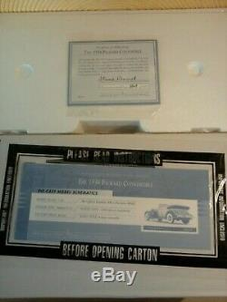 Franklin Mint 1934 Packard. 124. Rare Le. Nos. Sealed Docs. Undisplayed. Brand New