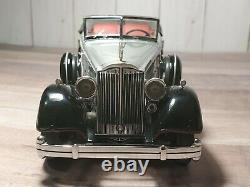 Franklin Mint 1934 Packard Convertible 124 Scale Diecast Model Car Silver