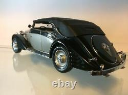 Franklin Mint 1939 Maybach Zeppelin 124 Diecast Model Car Black/Silver NIB