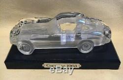 Franklin Mint 1963 Crystal Glass Chevrolet Corvette Model, 124 Scale