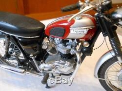 Franklin Mint 1969 Triumph Bonneville 110 Exellent condiion