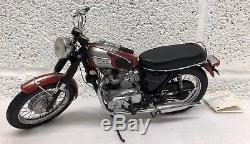 Franklin Mint 1969 Triumph Bonneville 110 Scale Diecast Motorcycle