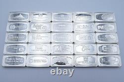 Franklin Mint 1971 Bank-marked 50 States Proof Set of Sterling Silver Ingots