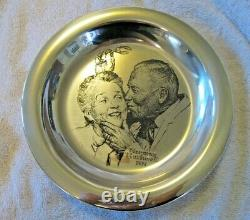 Franklin Mint 1971 Norman Rockwell Solid Sterling Silver Christmas Plate 184.21g