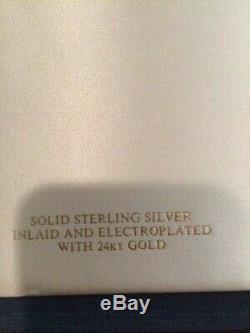 Franklin Mint 1974 & 1975 Bicentennial Plates Sterling Silver, Adams, Rodney