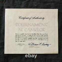 Franklin Mint 1977 CAMELOT CHESS SET Original Certificate 24K Gold 995 Silver