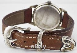 Franklin Mint 1988 Sterling Silver Remington Bronze Dial Watch Sterling Tip Band