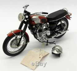Franklin Mint 1/10 Scale B11XN71 1969 Triumph Bonneville Red / Silver + Booklet