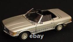 Franklin Mint 1/24 Die-Cast Metal Mercedes Benz 450SL roadster / Silver meta