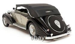 Franklin Mint 1/24 Scale 1939 Maybach Zepplin Black Silver Diecast Model Car