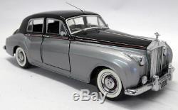 Franklin Mint 1/24 Scale Diecast B11UZ91 1955 Rolls Royce Silver Cloud Blk Sil