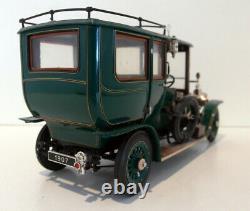 Franklin Mint 1/24 Scale diecast B11YA73 1907 Rolls Royce Silver Ghost green