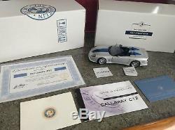 Franklin Mint 2000 Corvette Callaway C12 Roadster D4C LECC-VIII Ltd Ed ANIB 124