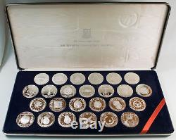 Franklin Mint 25 Treasure Coins Of The Caribbean-sterling Silver Set