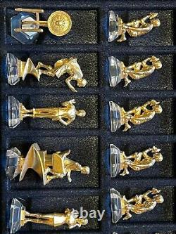 Franklin Mint 25th Anniversary Star Trek TOS Gold & Silver Pewter Chess Set 1992