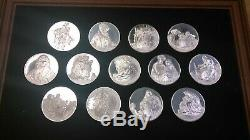 Franklin Mint 2 Oz. 925 Silver 50 Medals Coins Genius of Rembrandt with Box