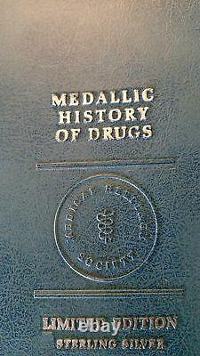 Franklin Mint 36 Sterling Silver History of Drugs Coins Complete Limited Edition