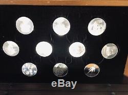 Franklin Mint 50 Leonardo Davinci Sterling Silver Coins and Wood Chest