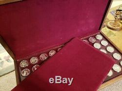 Franklin Mint 50 States of Union Sterling Silver Coins Governors Edition in Box