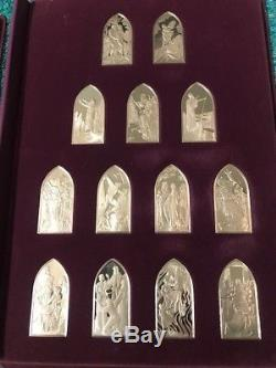 Franklin Mint 66 Sterling Silver Ingots-The Books Of The Bible-Protestant