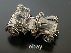 Franklin Mint 925 Sterling Silver 1905 Vauxhall Miniature Car 143 Scale