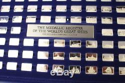 Franklin Mint 925 er Sterling Barren Berühmte Schiffe der Welt komplett! RAR
