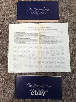 Franklin Mint American Flags of Revolution Mini Ingot 64 Piece Collection Silver