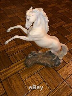 Franklin Mint Artist Pamela du Boulay Porcelain Horse Silver