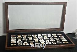 Franklin Mint Automobile Car 50 Emblems Sterling Silver 24K Gold Plated Ingots M