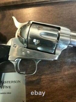 Franklin Mint BAT MASTERSON replica Colt. 45 Revolver no COA