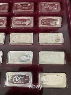 Franklin Mint Bank Marked 50 States Proof Set Silver Ingots