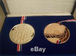 Franklin Mint Bicentennial Proof Limited Edition Medal Set Silver & Bronze Match