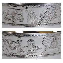 Franklin Mint Bicentennial Sterling Silver 24kt Gold Limited Edition Punch Bowl