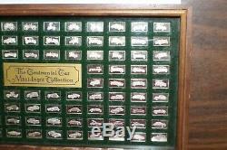 Franklin Mint CENTENNIAL CAR 100 PC Sterling Silver Mini Ingot Collection